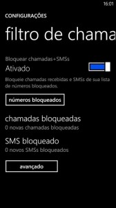 Filtro de chamada no windows phone